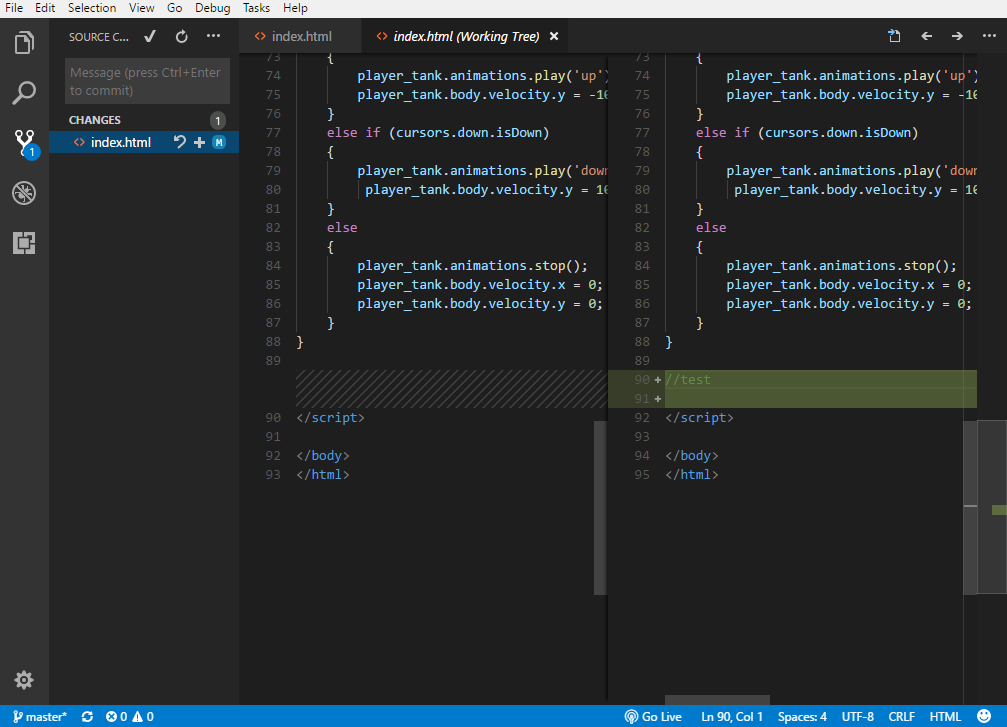 Visual Studio Code - source control
