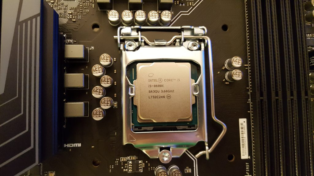 Intel - Core i5-8600K 3.6GHz CPU installed.