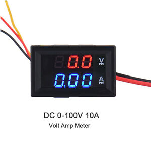 DC 100V 10A Voltmeter Ammeter hacks and teardown